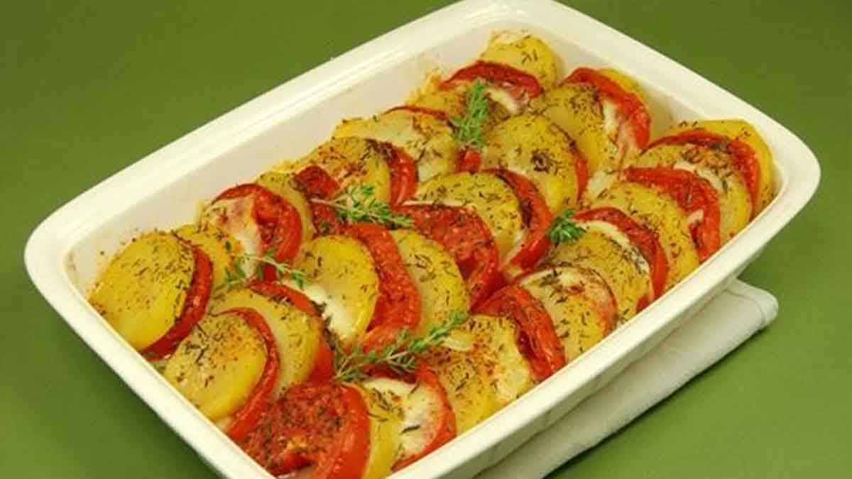 Gratin de tomates et pommes de terre