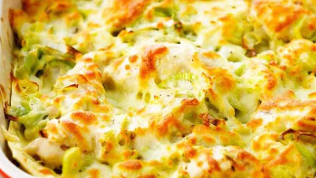 Merveilleuses lasagnes au poulet et aux poireaux