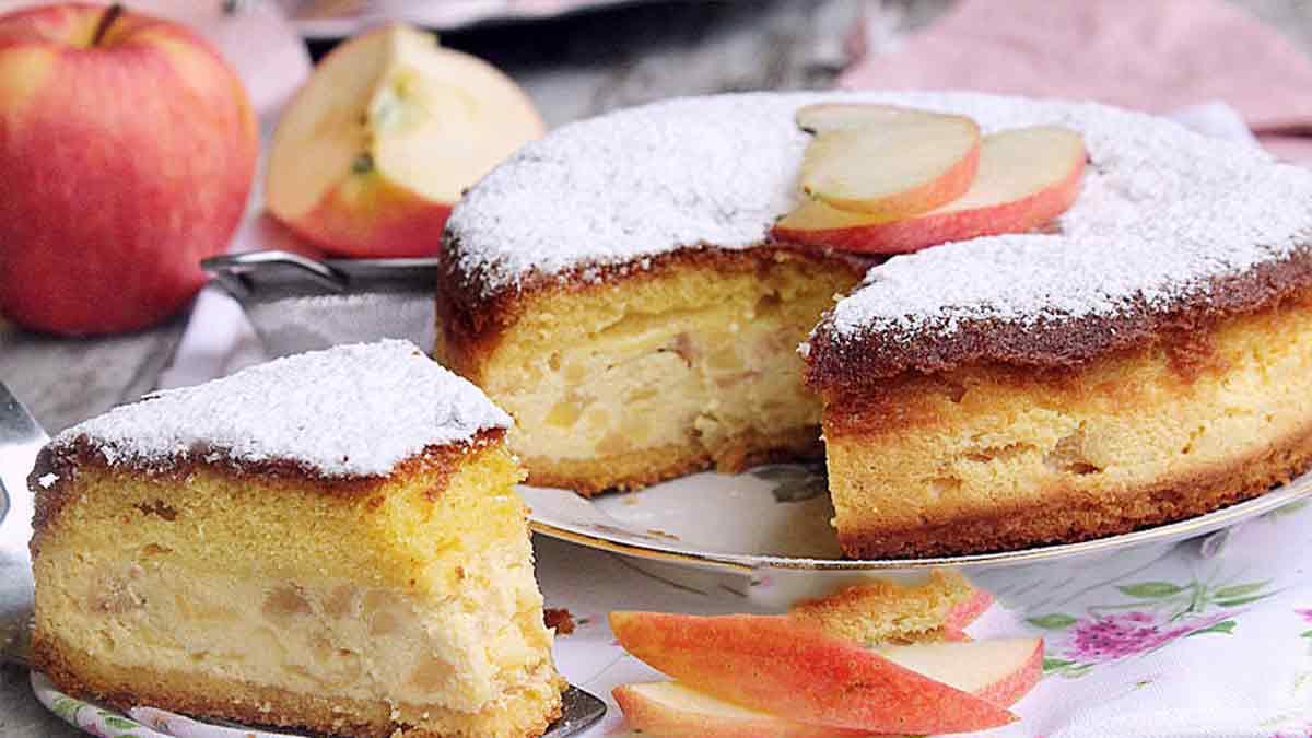Onctueuse tarte à la pomme et à la ricotta