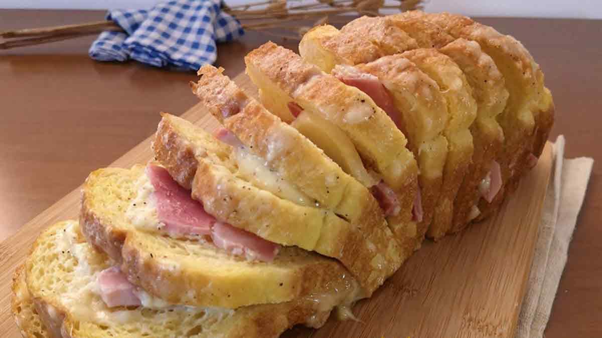 Savoureuse boîte à pain farcie