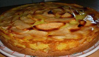 Savoureuse tarte flan aux pommes