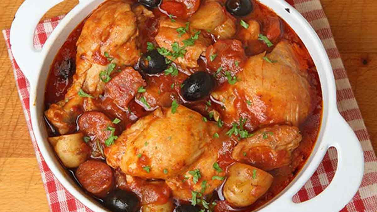 Savoureux sauté de poulet au chorizo