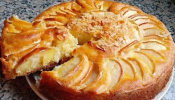 Succulent gâteau au yaourt aux pommes