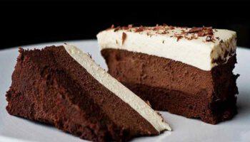 Succulent gâteau aux 3 chocolats