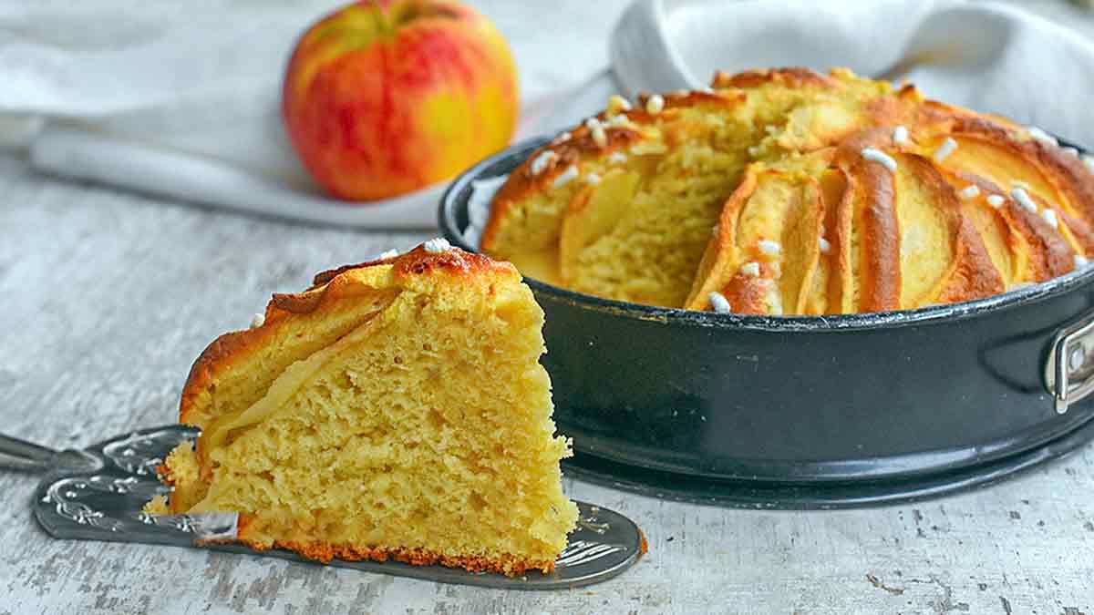 Succulent gâteau aux pommes sans beurre
