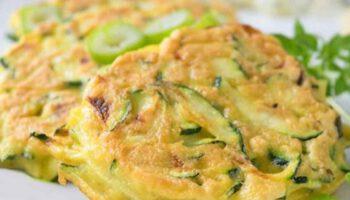 omelette courgettes et pommes de terre