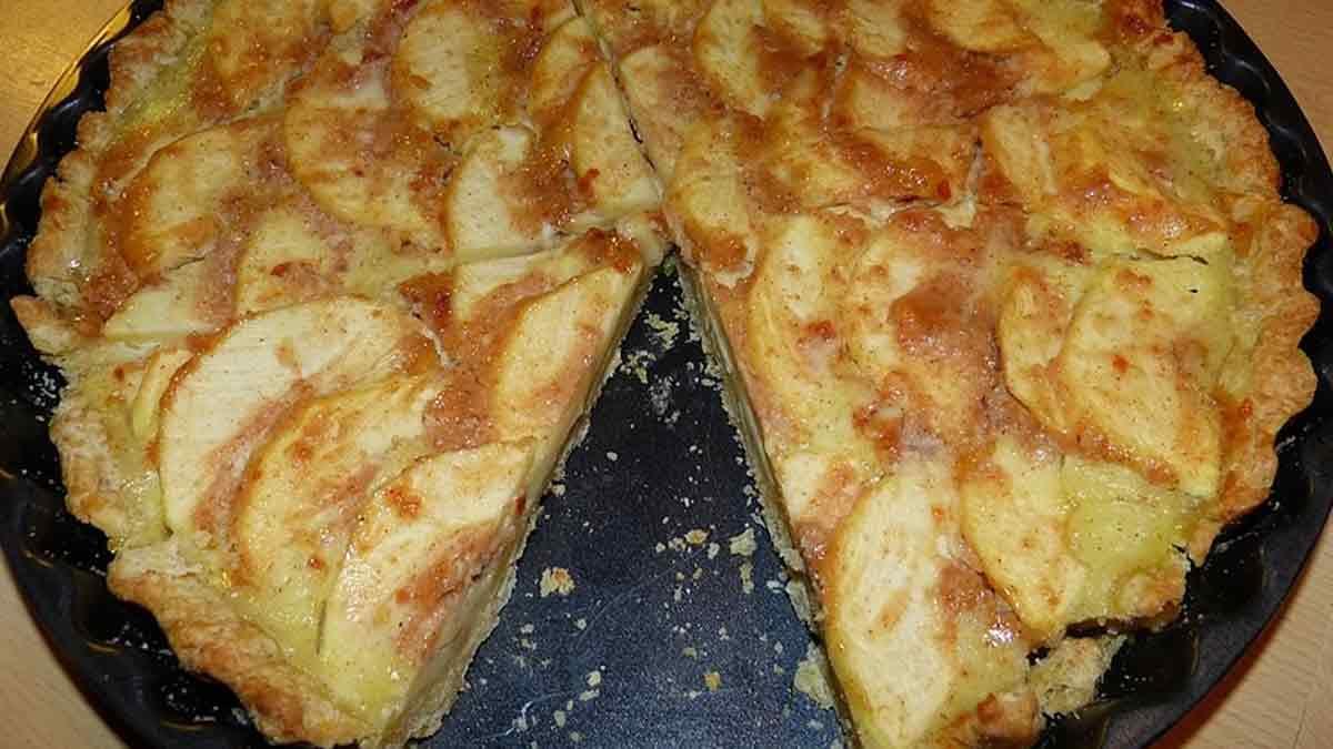 tarte aux pommes crème pâtissière