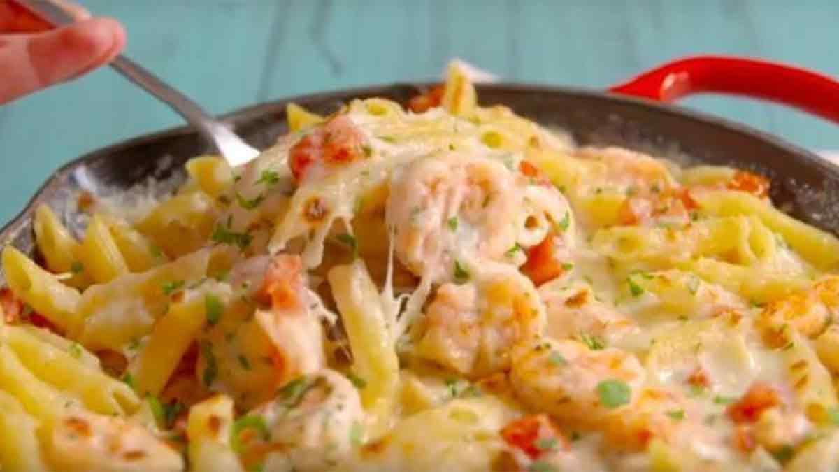 Casserole de crevettes avec ail