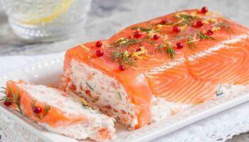 Exquise terrine aux 2 saumons