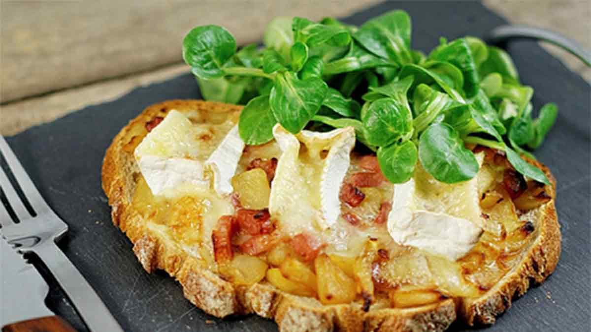 Fameuses tartines normandes aux pommes