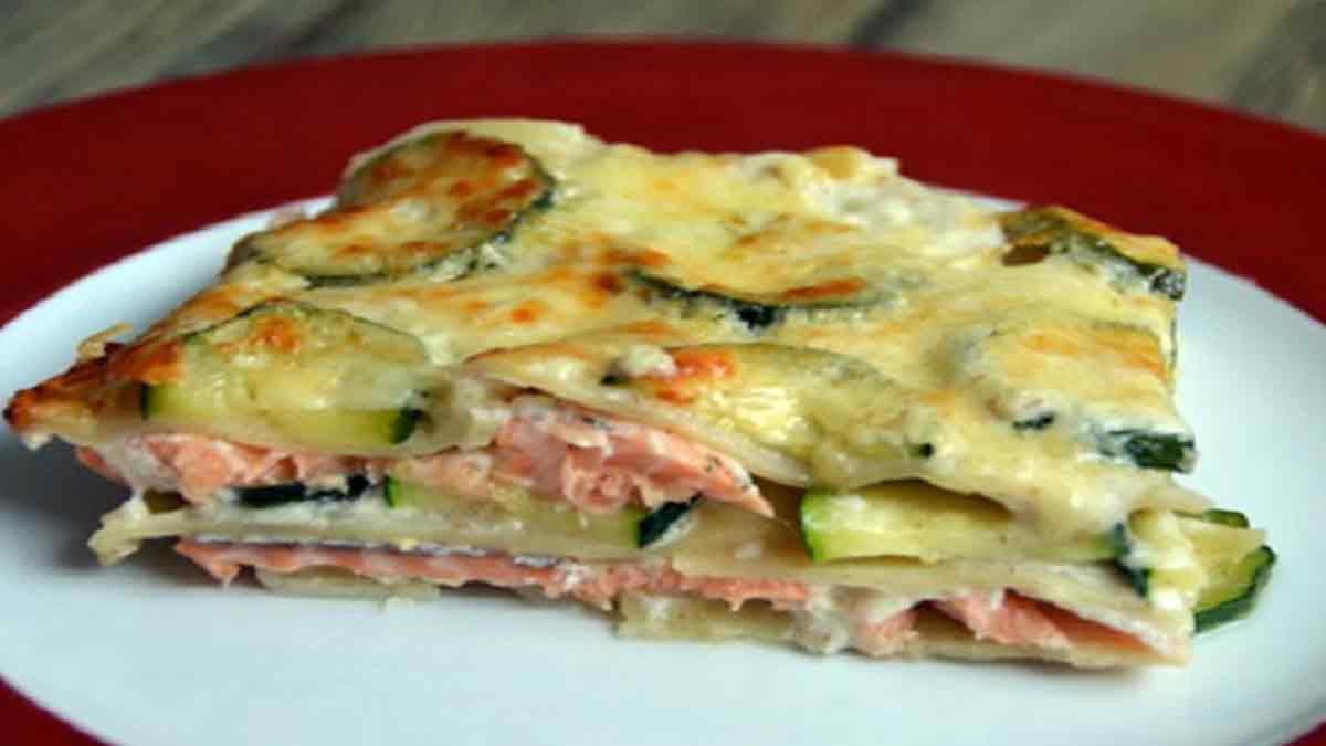 Savoureuses lasagnes aux courgettes et au saumon