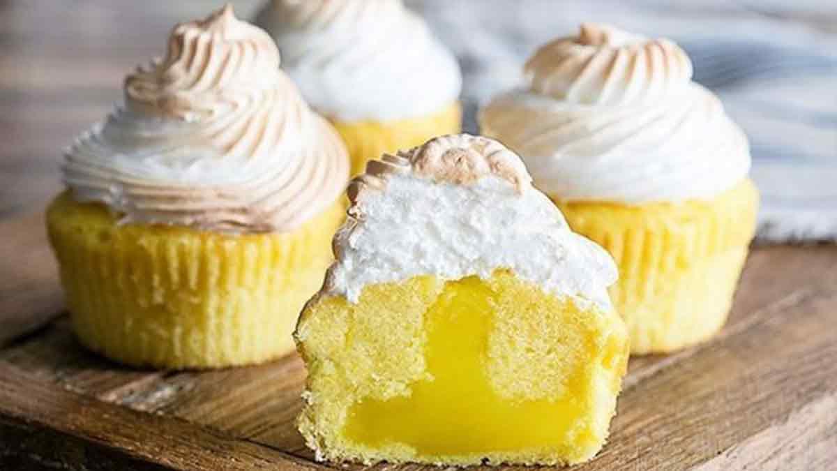 Savoureux cupcakes au citron meringués