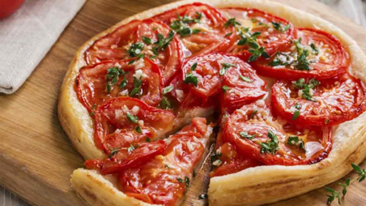 Succulente tarte à la tomate et moutarde