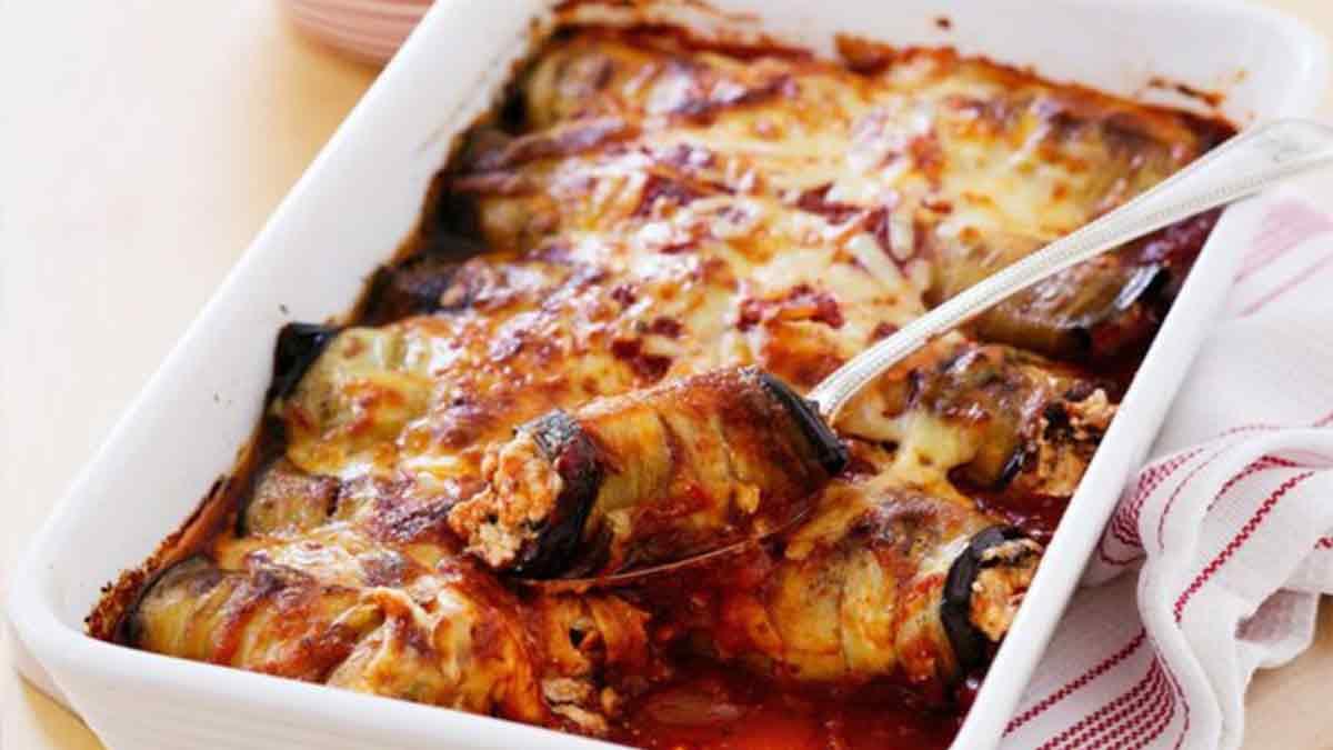 aubergines au parmesan et ail