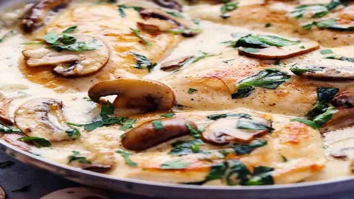 blancs de poulet à la sauce parmesan