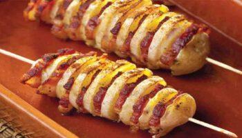 brochettes de pommes de terre rôties