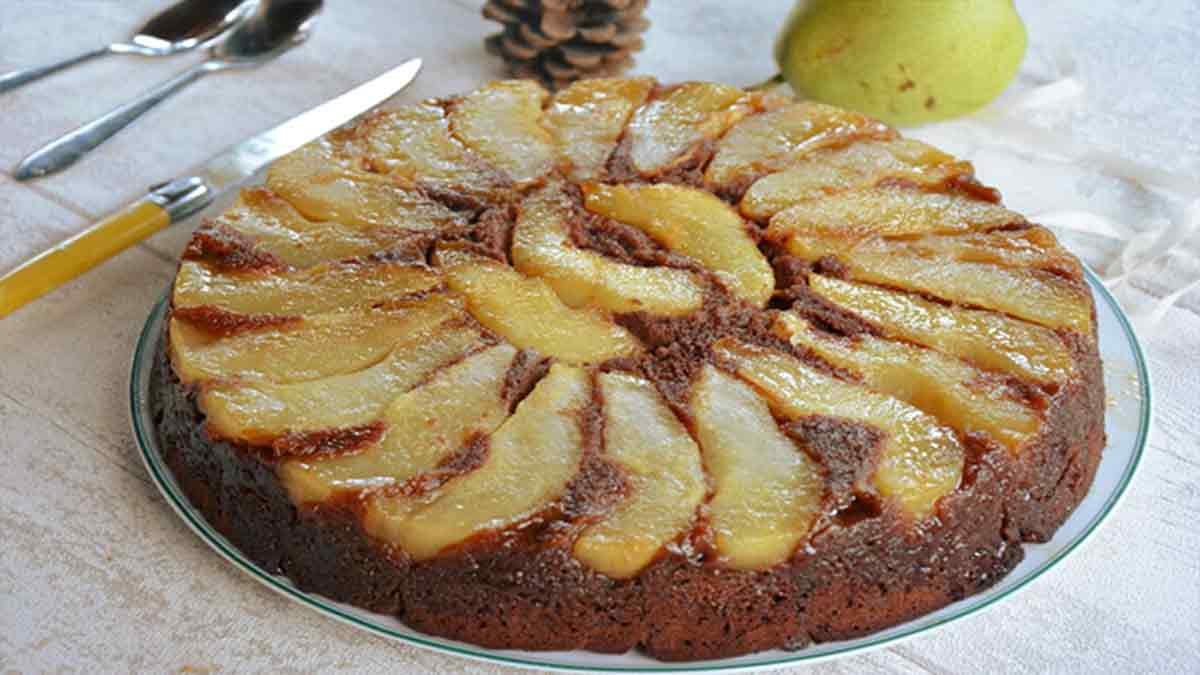 gâteau aux poires chocolat
