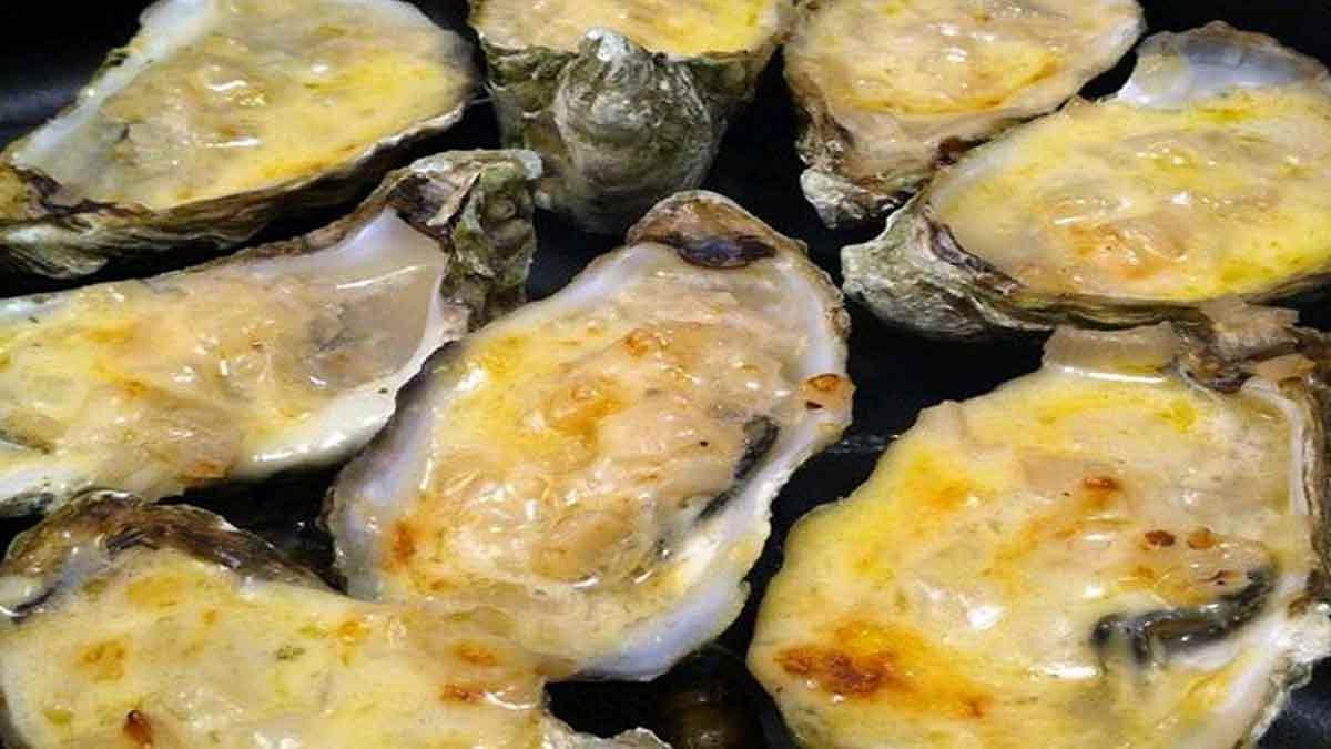 huîtres chaudes à la crème fraîche