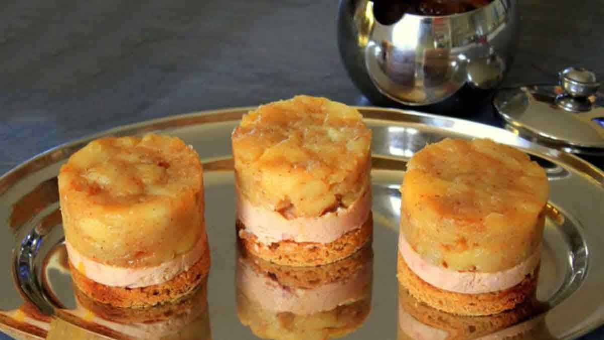 mini tatins de foie gras