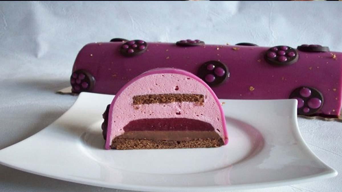 bûche framboise et chocolat