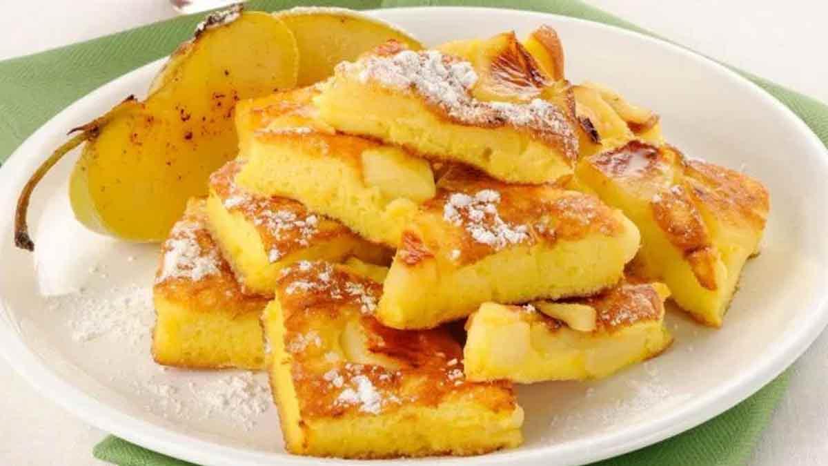 omelette aux pommes sucrées