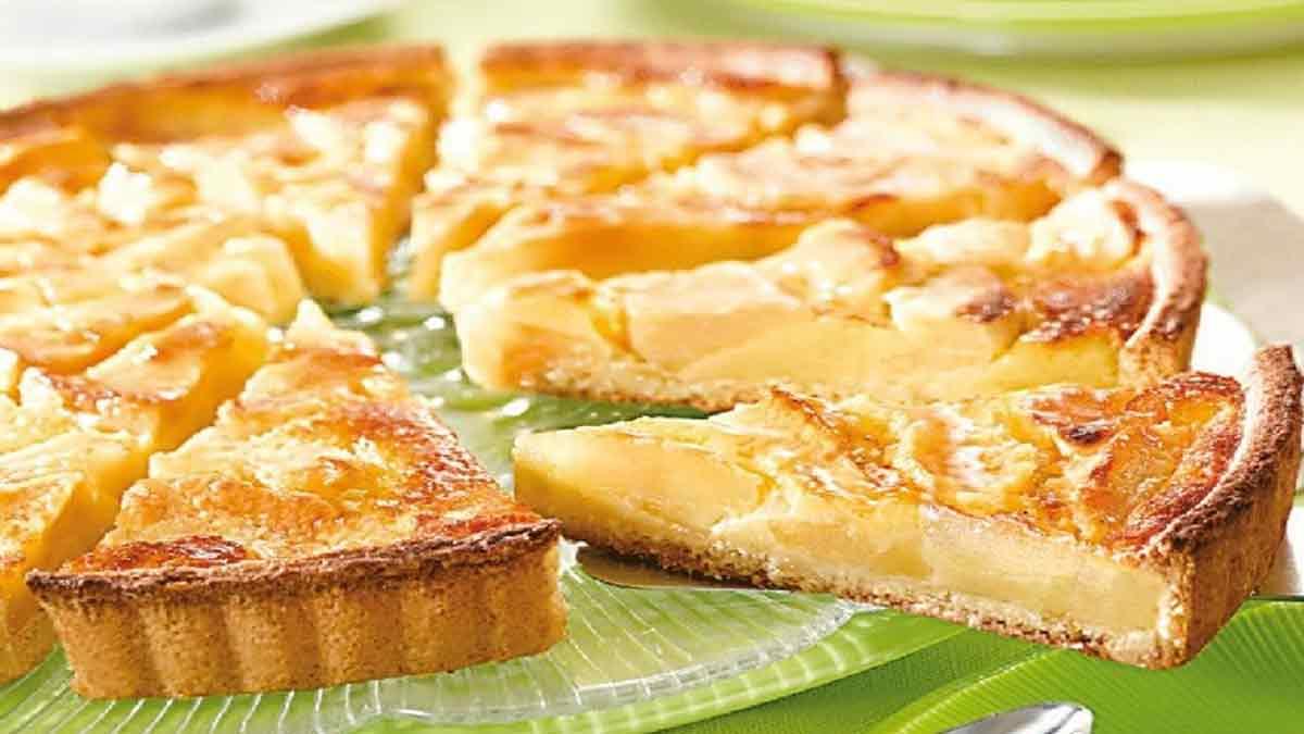 Délicieuse tarte aux pommes normande