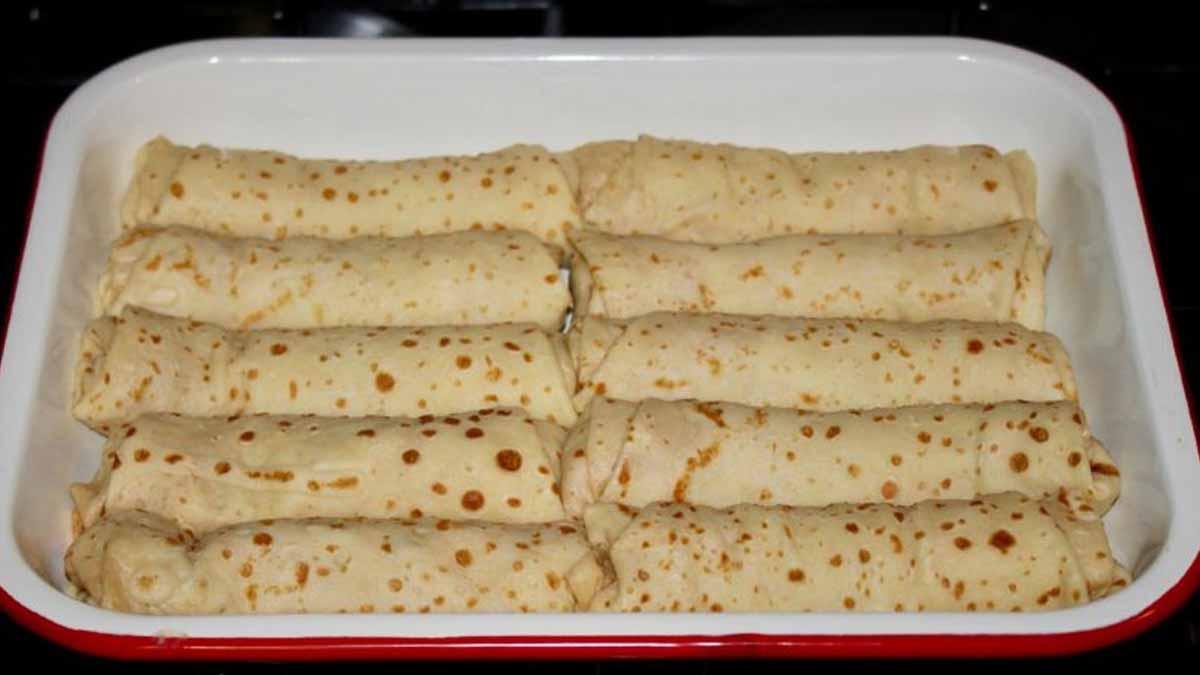 Délicieuses crêpes jambon fromage et champignons
