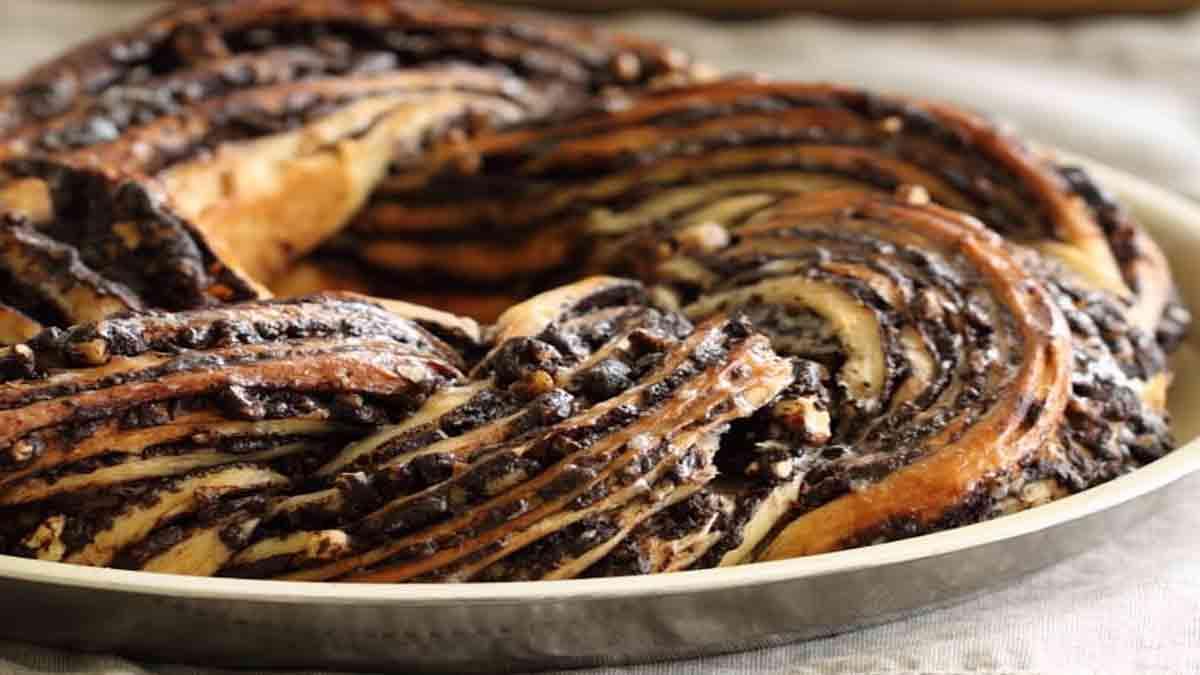 Délicieux krantz cake au chocolat et noisettes