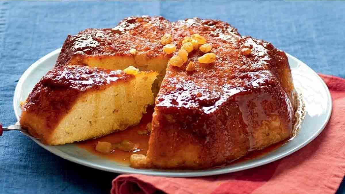 Exquis gâteau semoule rhum raisins secs