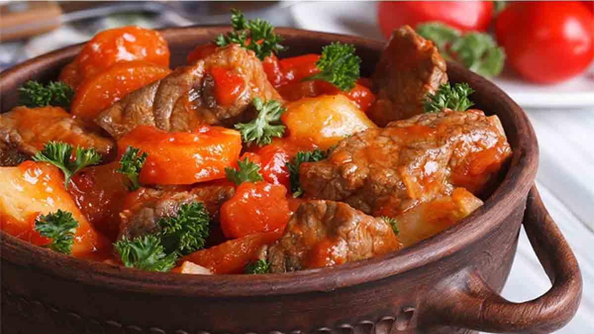 Exquis mijoté de bœuf maigre façon bourguignon à la tomate