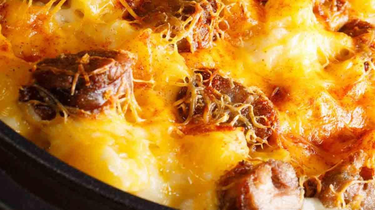 Fabuleux gratin de pommes de terre chorizo tomate et béchamel