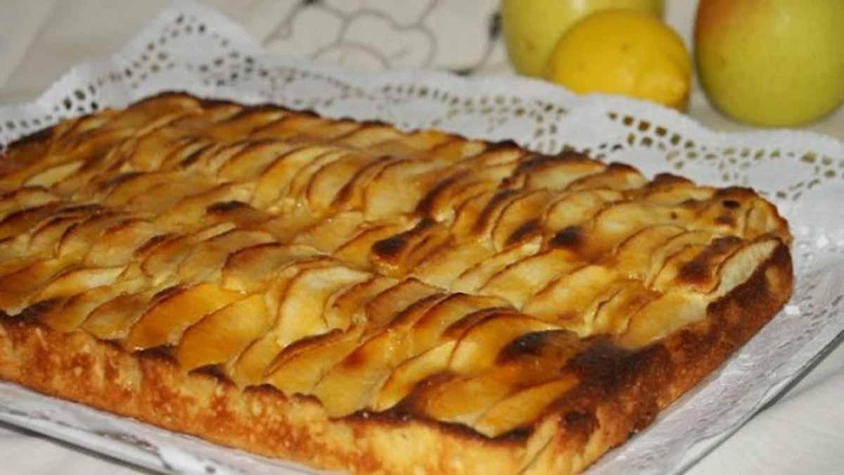 Gâteau doux yaourt aux pommes et raisins secs