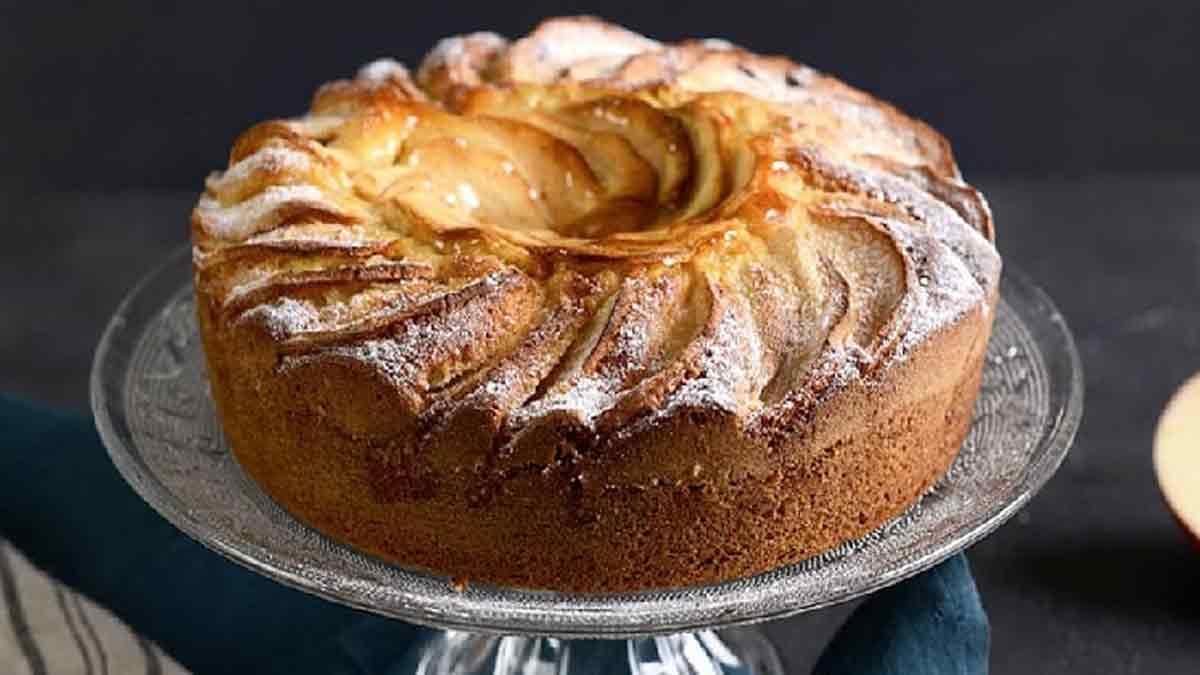 Splendide gâteau au yaourt aux pommes