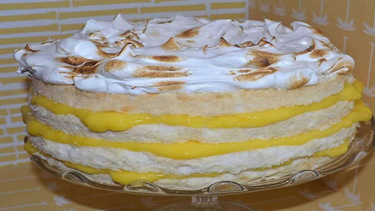 Succulent gâteau tarte au citron