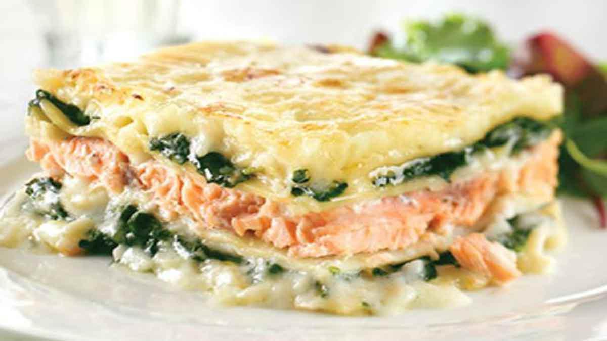 Succulentes lasagnes au saumon épinards