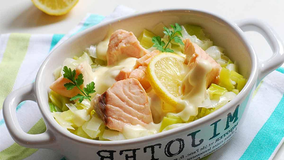 blanquette de la mer au saumon et poireau