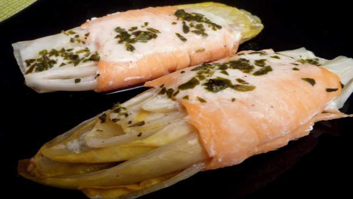 endives au saumon fumé et crème