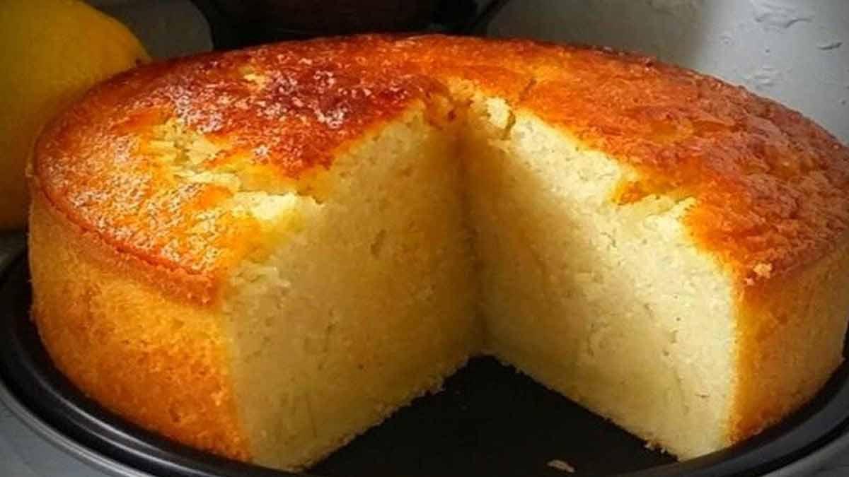 gâteau au lait et à la semoule sans sucre
