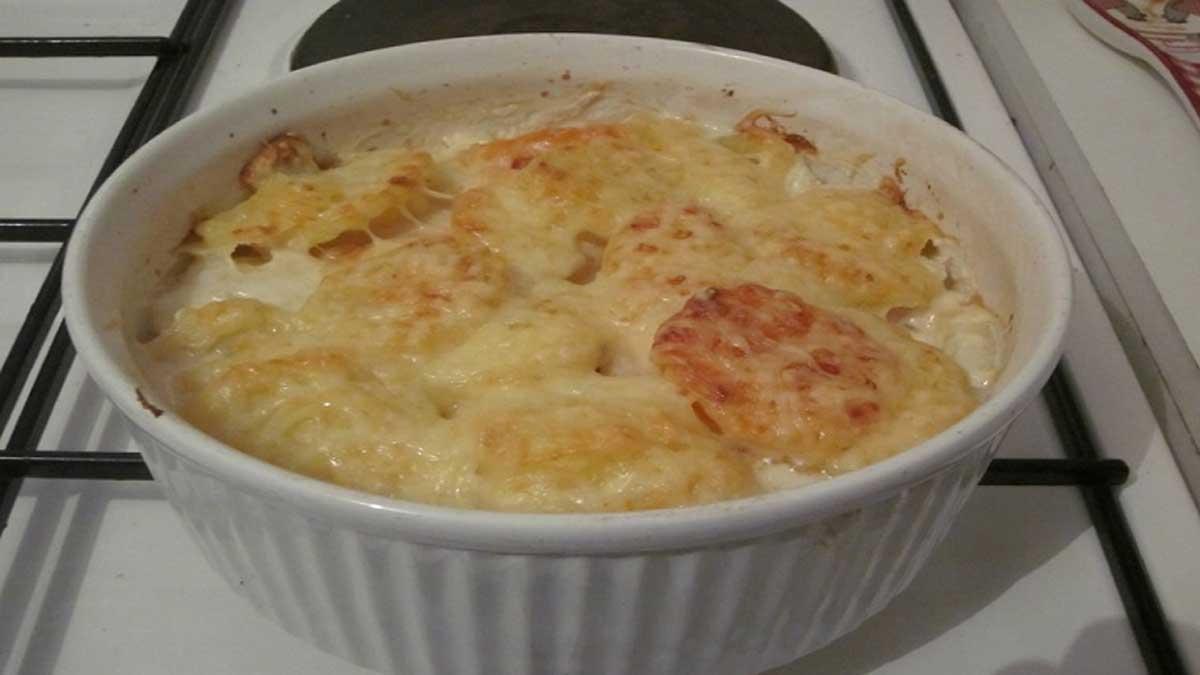 gratin de pommes de terre et patates