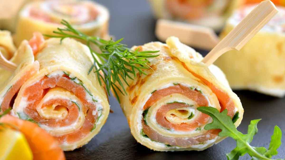 Exquis roulés de saumon au fromage