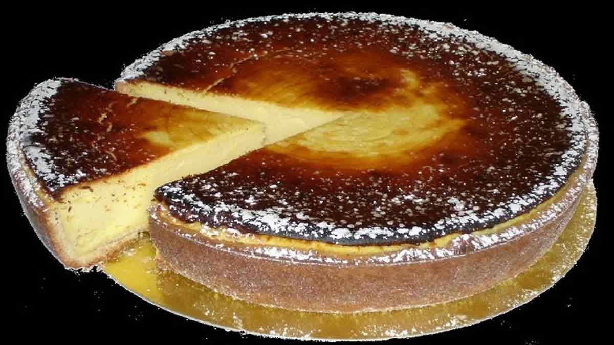 Délicieuse tarte alsacienne sucrée au fromage blanc