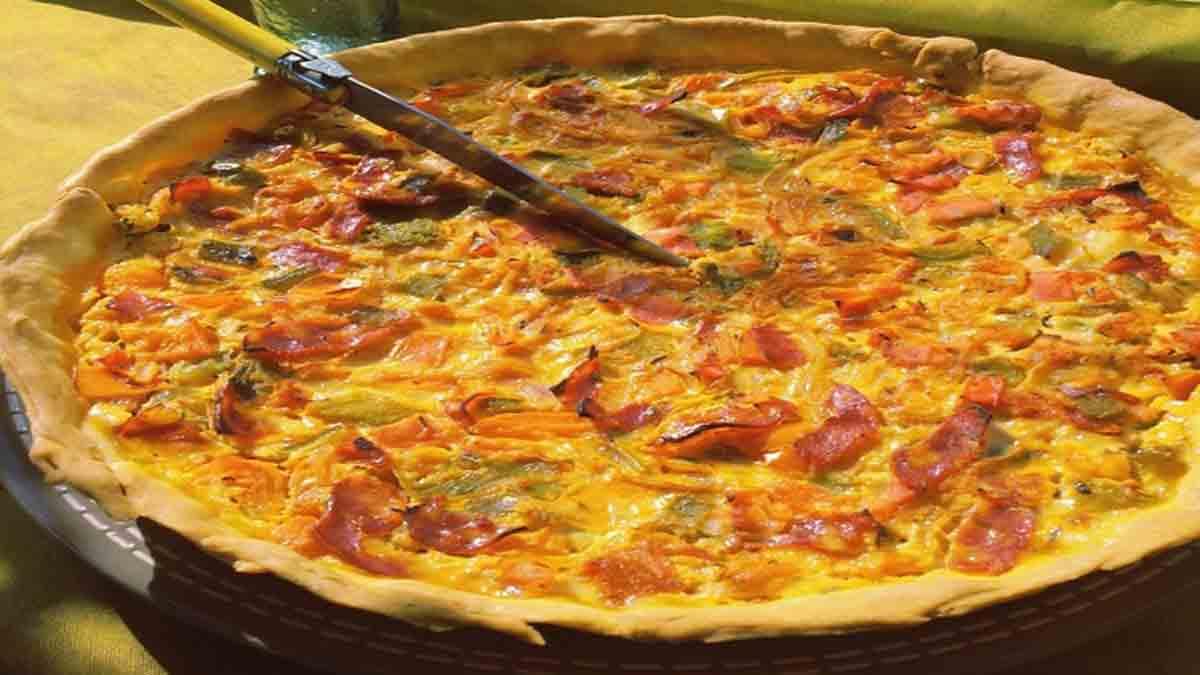 Fabuleuse tarte aux poivrons et chorizo