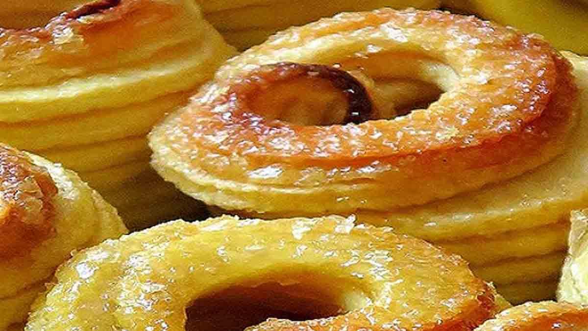 pommes au four enrobées de caramel
