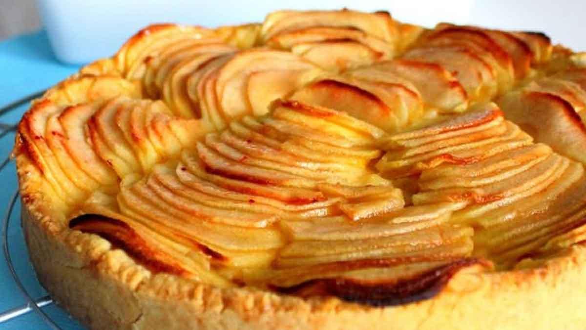 tarte au caramel crème amande et pommes