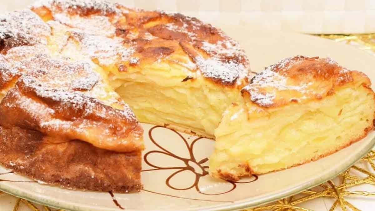 Délicieuse tarte aux pommes moelleuse sans beurre