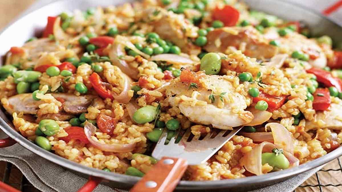 Fabuleuse paella au poulet au cookeo