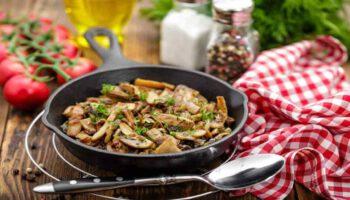 Savoureux champignons parfumés au persil et ail