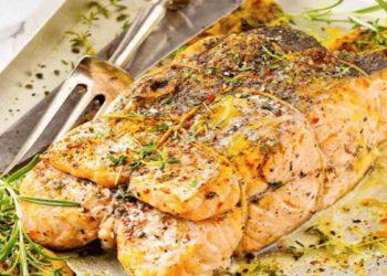 Savoureux filets de saumon farcis aux amandes