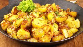 Succulentes pommes de terre nouvelles et ail sautés