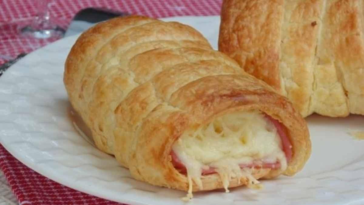 Tendres roulés salés au jambon et fromage râpé
